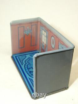 1930s vtg Marx Newlyweds BEDROOM Tin Litho Art Deco Doll House Toy #191 BOX