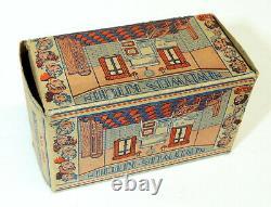 1930s vtg Marx Newlyweds KITCHEN Tin Litho Art Deco Doll House Toy #190 BOX
