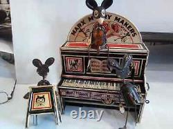 1931 Marx Merry Makers Vintage Tin Toy With Marquee & Repro Box Fully Working