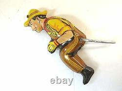 1940's VINTAGE TIN MARX TOY GIANT REVERSING TRACTOR TRUCK + FARMER NEW OLD STOCK
