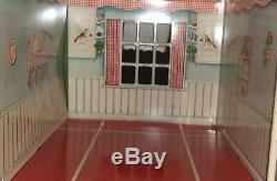 1950 Marx-A-Mansion Tin Metal Dollhouse with furniture MARX Vintage