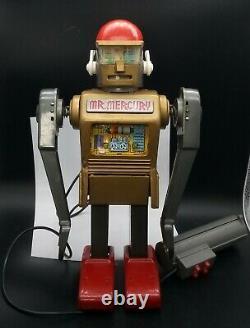 1960's Vintage MARX Tin Toys Mr. Mercury Robot WORKING