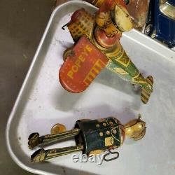 2 Vintage, Louis Marx Tin Toy Popeye & Airplane
