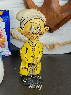 Antique Vintage Disney 1938 Dopey Lithographed Tin Windup Toy By Marx