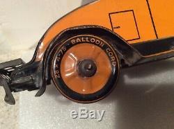 Antique, Vintage Tin Marx Balloon Cord Car. Original paint