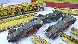 Boxed Vintage Tin-Plate Marx Clockwork Mystery Garage Road with 3x Cars