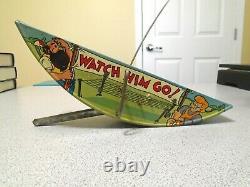 Disney Vintage 1939 Pinocchio The Acrobat Marx Tin Litho Wind Up -works Nm-