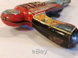Flash Gordon ARRESTING RAY Tin-Litho Clicker Gun Vintage Marx King Features Synd