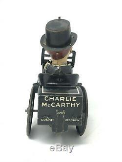 Louis Marx Charlie McCarthy Bezine Mobile, Wind-Up, Vintage 1930's, Tin Litho