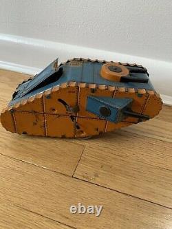 Louis Marx Co Vintage Doughboy Tin Lithograph Army Tank