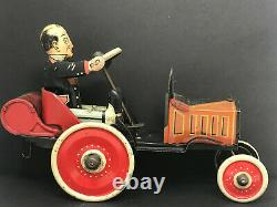 Louis Marx Coo Coo Car, Wind-Up, Vintage 1920's, Tin Litho