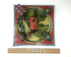 Louis Marx Pinched Tin Litho Table Top Toy, Vintage 1920's ('27)