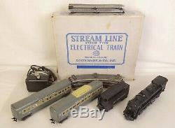 MARX VINTAGE NEW YORK CENTRAL PASSENGER SET With333 LOCO-TENDER & CARS-VG. IN BOX