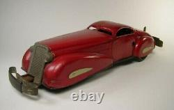 MARX Vintage 1930s Red Lithographed Tin Windup Marvel Bumper Car #711