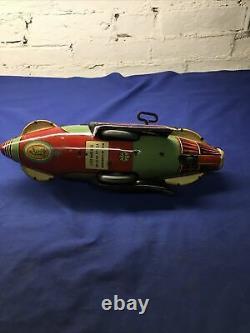 Marx 1934 Vintage Buck Rogers Police Patrol Tin Windup Rocket Ship, Works