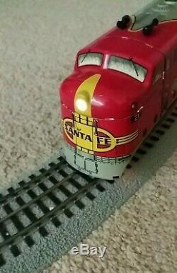 Marx 21 A/A Santa Fe O Gauge Tin Metal Diesel Engine Vintage Locomotive