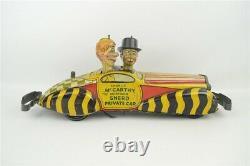 Marx Charlie McCarthy & Moritmer Snerd Vintage 1939 Private Car Wind up Tin Toy