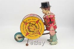Marx Charlie McCarthy Vintage Drummer Boy Tin Windup Toy for Display
