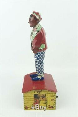 Marx Jazzbo Jim Black Americana Vintage 1920s Litho'd Tin Wind Up Toy Working