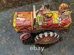 Marx Old Jalopy College Crazy Car, Wind-Up, Vintage 1950's, Tin Litho