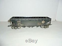 Marx Prewar Vintage Rare Tinplate Four Bay Lehigh Valley Hopper Car