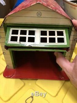 Marx TIN Magic Garage & Friction Car Original Box, Vintage GORGEOUS