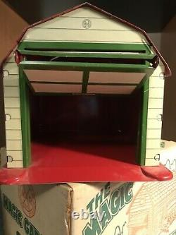 Marx The Magic Garage And Car In Original Box. Very Nice! Tin toy vintage