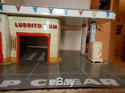 Marx Tin Toy Vintage Car Service Center withElevator Metal Litho