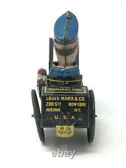 Marx Toys Beat It the Komikal Kop No. 7, Vintage 1930's, Tin Litho, Wind-Up