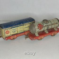 Marx Train Tin Litho Commodore Vanderbilt NY Central O Scale -Vintage 6 piece