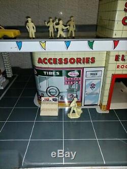 Marx Vintage Day & Nite Service Center Tin Litho Playset
