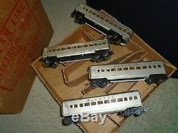 Marx Vintage Santa Fe Tin Train Passenger 4 Car Set & Box 1957 Collector Grade