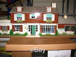 Marx Vintage Tin Metal Doll House 1950's with Original Furniture (B)