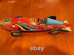 Marx Wind up Rocket Racer tin race car vintage