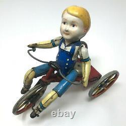 Marx Wonder Cyclist, Tin Wind-Up, Vintage 1930's