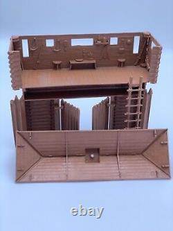 Marx original Fort Apache blockhouse over gate in light brown Rin Tin Tin Vtg