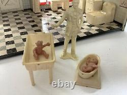 Marx tin litho Babyland Nursery Dollhouse and Extras
