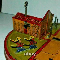 Neat Vintage Louis Marx Tin Litho Wind Up Coast Defense Toy