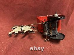 Popeye Mean Man Horse & Cart Wind-Up Vintage Tin Toy Working with Box Marx Toys