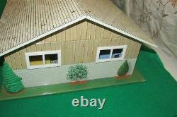 RARE Vintage 1965 MARX Tin Doll House Mid Century Rooster Ranch & 50+ Furniture