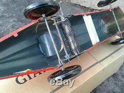 RARE Vintage Louis MARX Tin Litograph Windup GIANT KING RACER 711 withOriginal Box