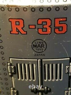 RARE Vintage Robot R35 Masudaya Japan Marx Linemar Toys Tin Robot Battery OP