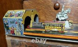 Rare 1920's Vintage Marx Main Street Tin Windup Toy with original box