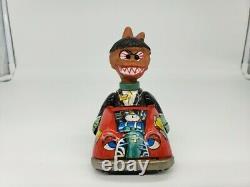 Rare HTF 1960s Vintage NUTTY MAD CRAZY MONSTER Tin Friction Car MARX TOYS Japan