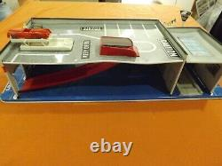 Rare Marx Sears Allstate Service station Tin Toy vintage with Accessories! Look