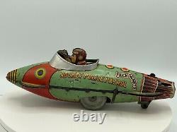 Rare Vintage 1927 Marx Tin Wind Up Buck Rogers Police Patrol Rocket