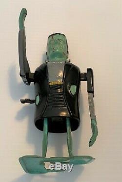 Rare Vintage FRANKENSTEIN Mechanical Wind Up Tin Plastic Toy Monster MARX Works