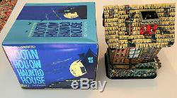 Rare Vintage MARX HOOTIN' HOLLOW HAUNTED HOUSE BO 1960's Tin Toy Boxed SEE VIDEO