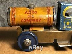 Scarce Vintage Marx 5 1/2 Tin Tanker Truck Aero Oil Company Works