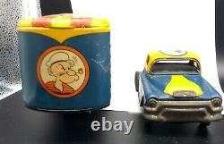 VERY RARE Vintage Popeye Transit Co. Movers Tin Truck Linemar Marx Japan